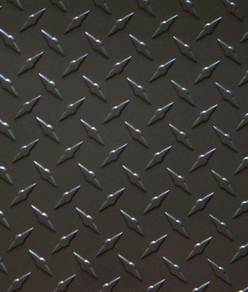 Gunmetal gray diamond plate from The Metal Link