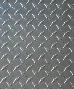 The Metal Link has a polished silver diamond plate