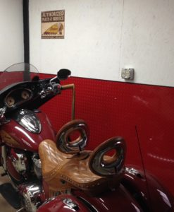 indian motorcycle theme with red diamond plate from The Metal Link