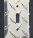 Diamond plate single switch plate from The Metal Link
