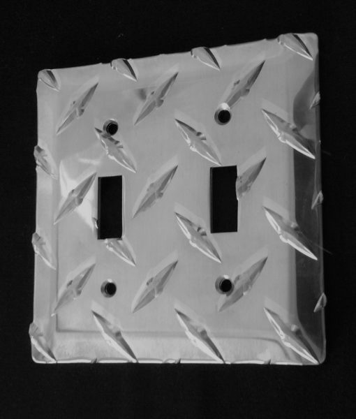 diamond plate Double switch plate from The Metal Link